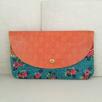 Blue Jogi Clutch
