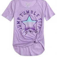 Sports Side Knot Tee | Girls {category} {parent_category} | Shop Justice