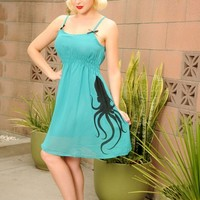 Baby Doll Dress with Octopus | Pinup Girl Clothing