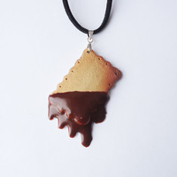 Dripping Chocolate Cookie - pendant - square 2