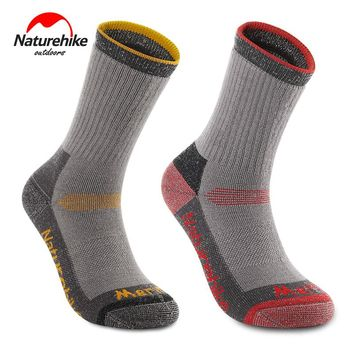 Naturehike Outdoor Hiking Sports Woollen Socks Winter Thicken Warmth Skiing Socks Mid-calf Length Knee-high Men Women NH17W001-M