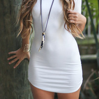 Bay Breeze Ivory Bodycon Dress
