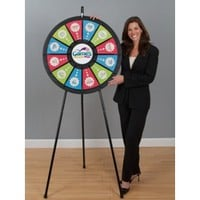12-Slot Black Floor Stand 31 Inch Prize Wheel