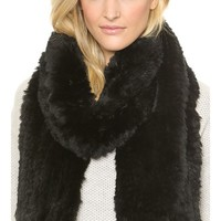Vince Rabbit Fur Scarf