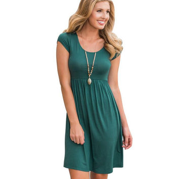 Womens Cosy Short Sleeve Dress