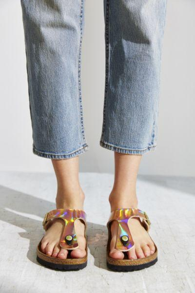 64c7953ad Birkenstock Gizeh Birko-Flor Mirror from Urban Outfitters