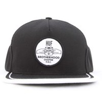 Huf, Brotherhood Side Mesh Snapback - Black - Headwear - MOOSE Limited