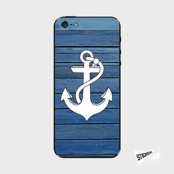 iPhone 5 / 5S iPhone 4 / 4S Galaxy S3 / S4 Nexus 5 Nokia Lumia Skin Cover Decal Sticker Anchor