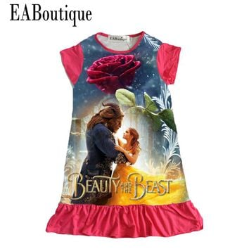 Beauty and the Beast Pajamas Dresses Nightgown