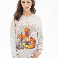 FOREVER 21 Felted Lion King Sweatshirt Tan/Multi