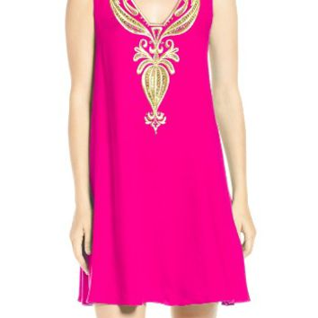 Lilly Pulitzer® Owen Embroidered Trapeze Dress | Nordstrom