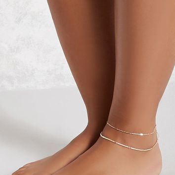 High-Polish Layered Anklet