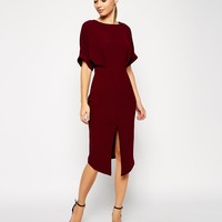 ASOS PETITE Wiggle Dress with Wrap Back and Split Front