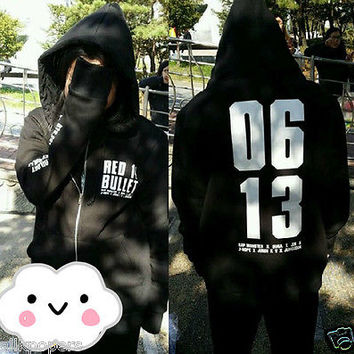 BTS Cap Hoodie Bangtan Boys Sweater/Pullover 2014 Live Trilogy The Red Bullet