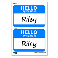 Riley Hello My Name Is - Sheet of 2 Stickers