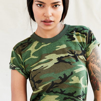 Vintage Cropped Camo Tee | Urban Outfitters