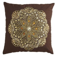 Beaded Medallion Pillow