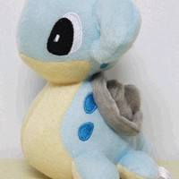 "Pokémon Pokemon Plush Lapars Doll Around 15cm 6"" Free, Blue"