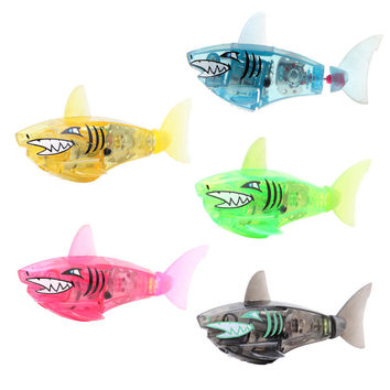 Robofish Activated Battery Powered Robot Fish Toy Childen Kids Shark Pet 5 colors