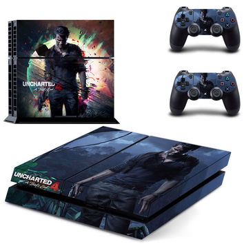 Uncharted 4 decal for ps4 console skin sticker