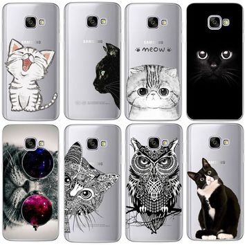 Coque For Samsung Galaxy S4 S5 S6 S7 Edge S8 Plus A3 A5 2016 2015 2017 prime J1 J2 J3 J5 J7 Case TPU Silicon Cover Cat Fundas 1 2