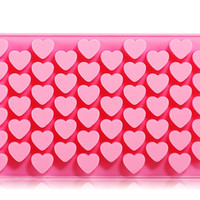 Silicone Heart Design Chocolate Mold & Icy Tray (Pink)