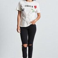 Amour Corset Lace-Up Tee
