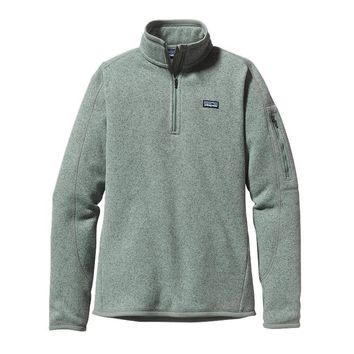 Patagonia Women's Better Sweater® 1/4-Zip Fleece Pullover | Verdigris