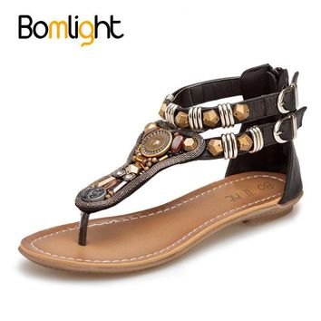 Bomlight 2017 Summer Flip Flops Women Sandals Fashion Bohemian Shoes Open Toe Sandals
