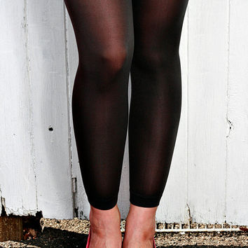 Vintage High Quality Black, Grey, Pink, Light Pink, Blue Tights Leggings One Size
