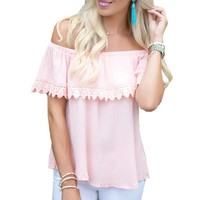Fashion Women Off Shoulder Casual Loose Tops Tee T-shirt