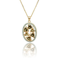 .925 Sterling Silver Multiple Heart Stones Necklace