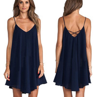 New Summer Sexy Women Sleeveless Party Dress Evening Cocktail Casual Mini Dress = 1946822404