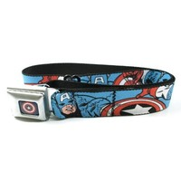 Captain America in Action Blue/Red - Seatbelt Belt
