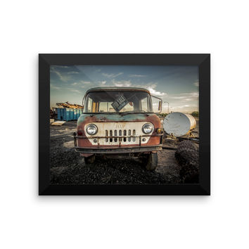 Jeep Thing Framed photo paper poster
