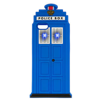 3D Light Up Police Box Cover for iPhone 6