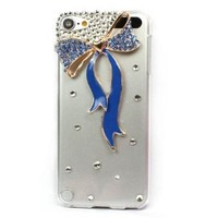 New Crystal scarves Hard Back Case Cover for iPod Touch 5 5G 5TH Blue