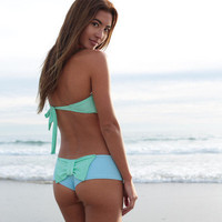 The Girl and The Water - Lolli - Bow Bottom Sky/Mint - $67
