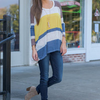 Must Have You Top, Blue-Mustard