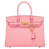 Hermes HSS SO Bi-color Rose Confetti and Crocus Epsom Birkin 30cm Gold Hardware