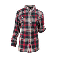 Lauren Ralph Lauren Womens Flannel Plaid Button-Down Top