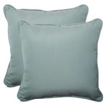 Sunbrella® Canvas Outdoor 2-Piece Square Throw Pillow Set : Target