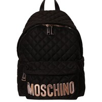 Quilted nylon backpack with logo