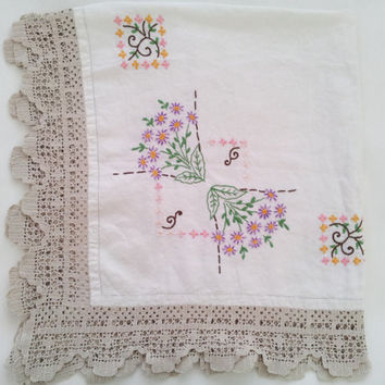 Linen tablecloth, square tablecloth, tablecloth, table cloth, embroidered tablecloth, embroidery tablecloth, floral tablecloth, table cloths