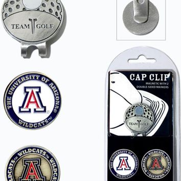 NCAA Arizona Wildcats Hat Clip & 2 Magnetic Golf Ball Markers