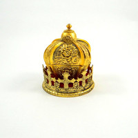 Vintage Crown Musical Jewelry Box by Taj Importing Company San Francisco