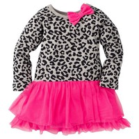 Gerber® Graduates® Toddler Girls' Leopard Dress with Bow - Grey