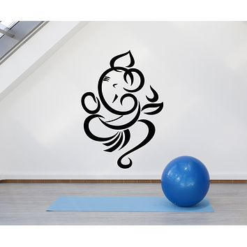 Vinyl Wall Decal Abstract Indian God Ganesha Hindu Religion Stickers Mural (g716)