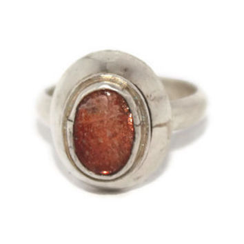 925 Sterling Silver Ring Goldstone Ring Gypsy Ring Hippie Ring Boho Ring