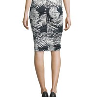 Jocelyn Sleeveless Ruched Top & Sandy Ruched Pencil Skirt